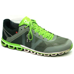 On Running Mens Cloud Flow Green Sneakers Size 10